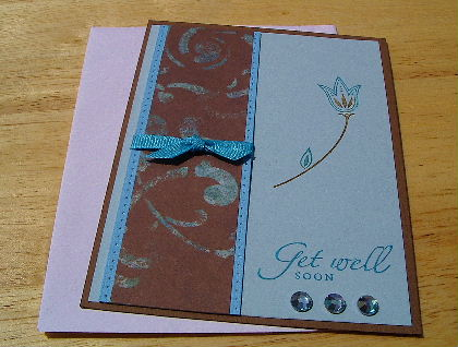 Turquoise get well card