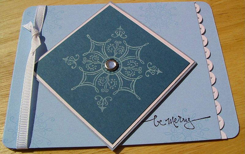 Snowflake be merry card
