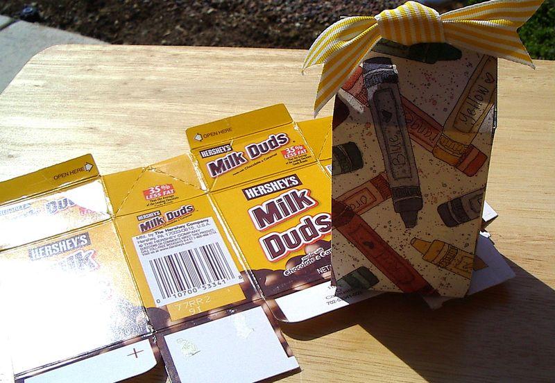 Milk Duds crayon box