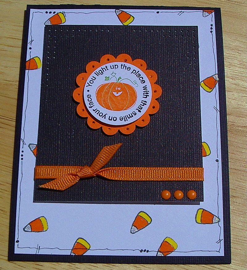 Halloween - candy corn card