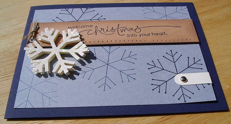 Snowflake punch Xmas card