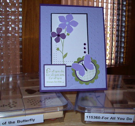Lavender flower card