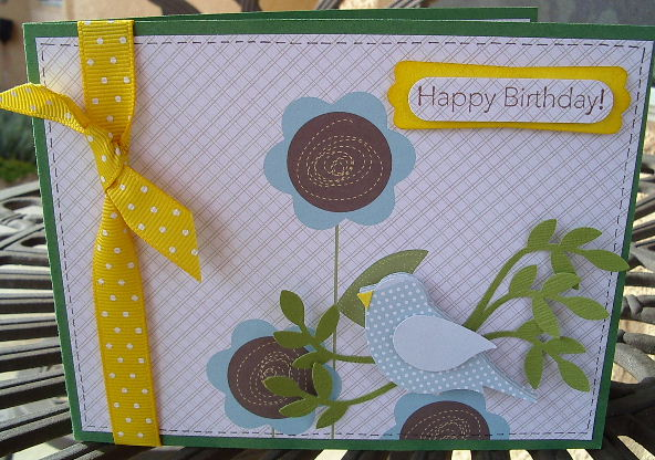 Louises bird punched b-day cd