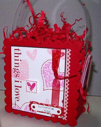 Scallop Square die Valentine purse