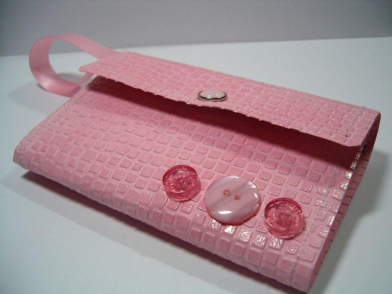 Pink lg wallet clutch