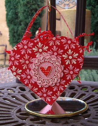 Petal Card die - Red Heart