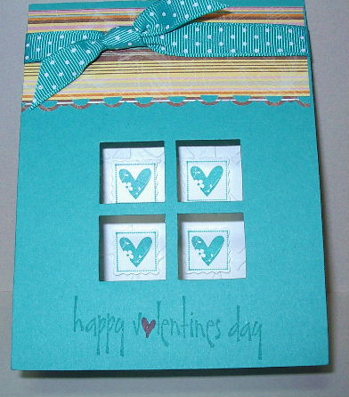 Turquoise Valentines card