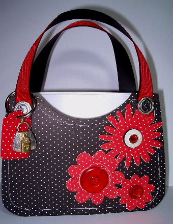 Black Polka Dot purse #2