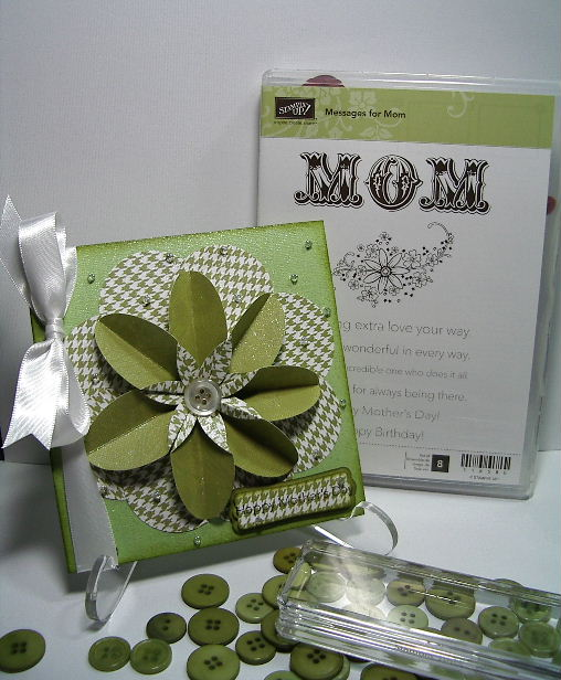 My Inspiration 3-D flower card