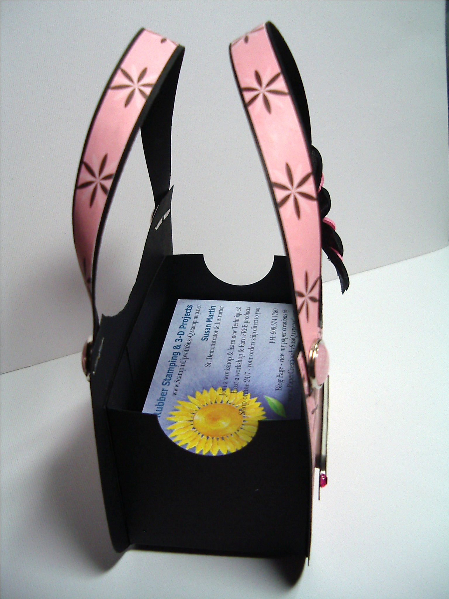 Tuesday business card holder purse sign using stampin up crown custom jelews purse 2 reheart Choice Image