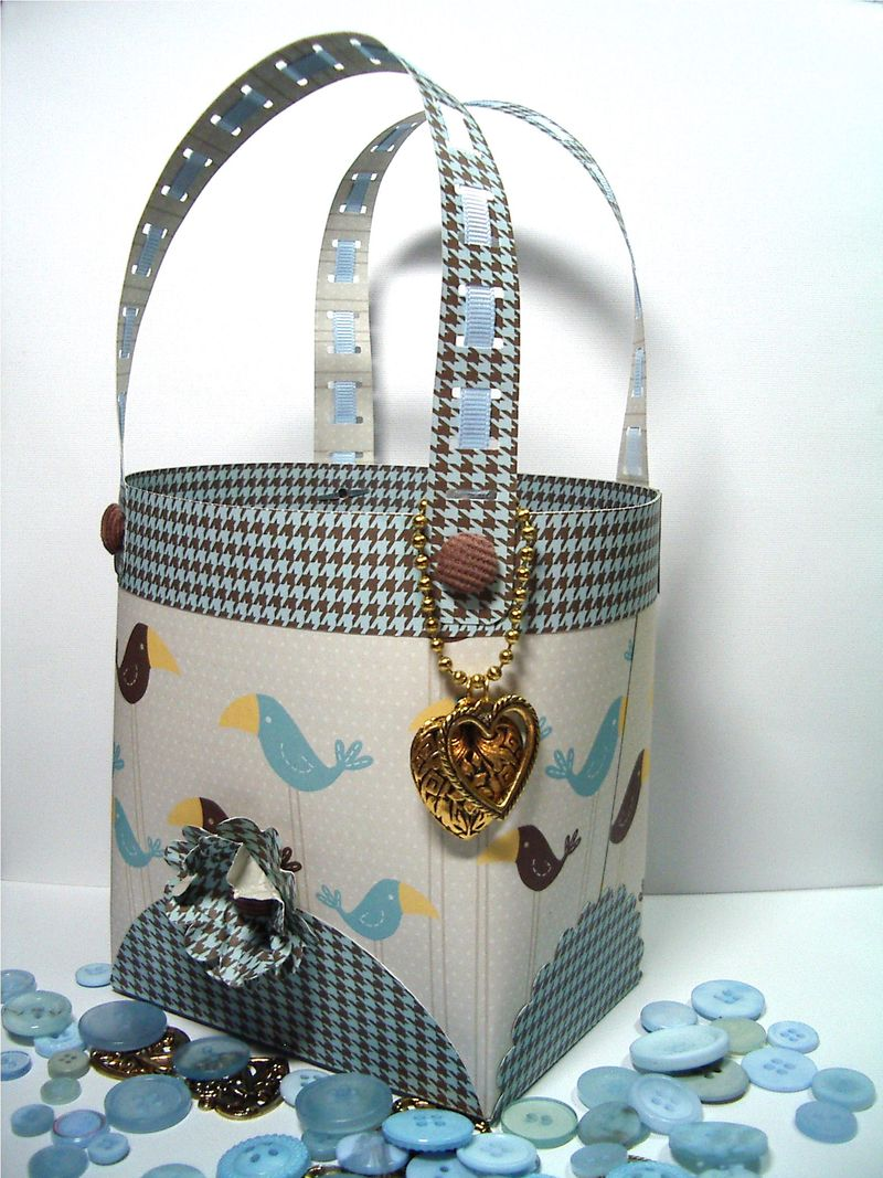 Birds - Barrel Purse