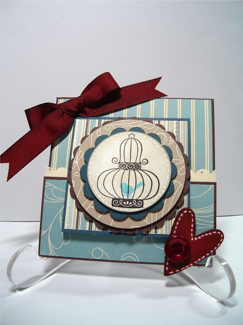 Joy Fold Bird Cage card