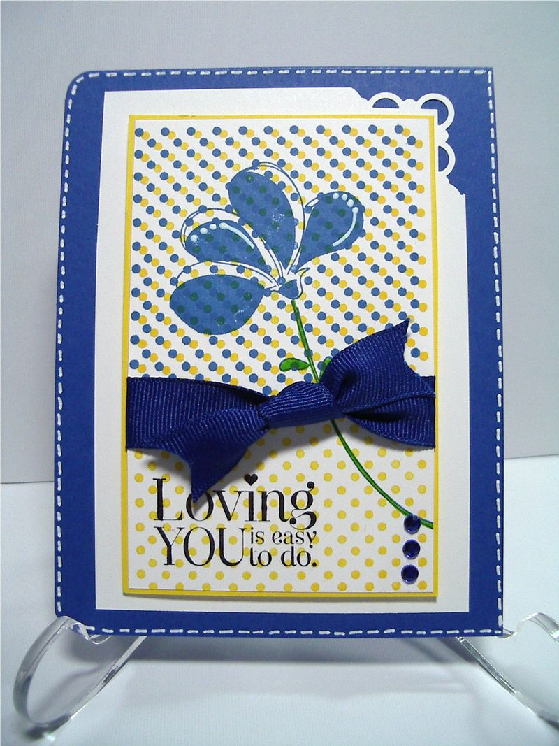 Loving You Brilliant Blue card