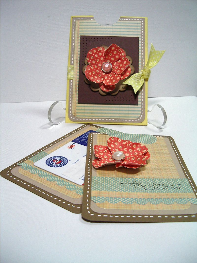 Fancy Flower envelope gift card