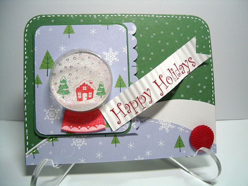 Happy Holiday Snowglobe card