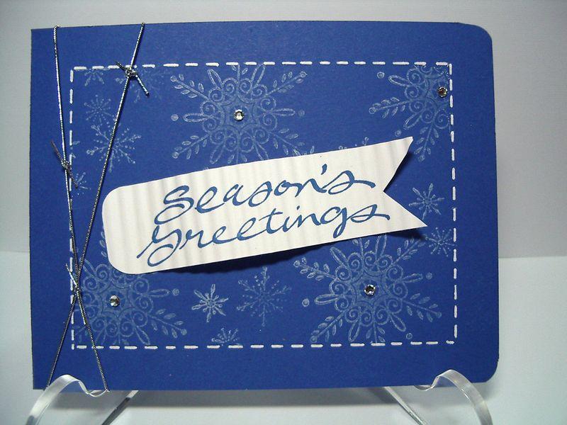 Seasons Greetings-Brilliant Blue card