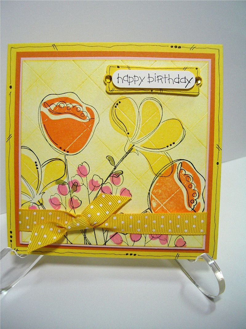 Faux Tile Awash card