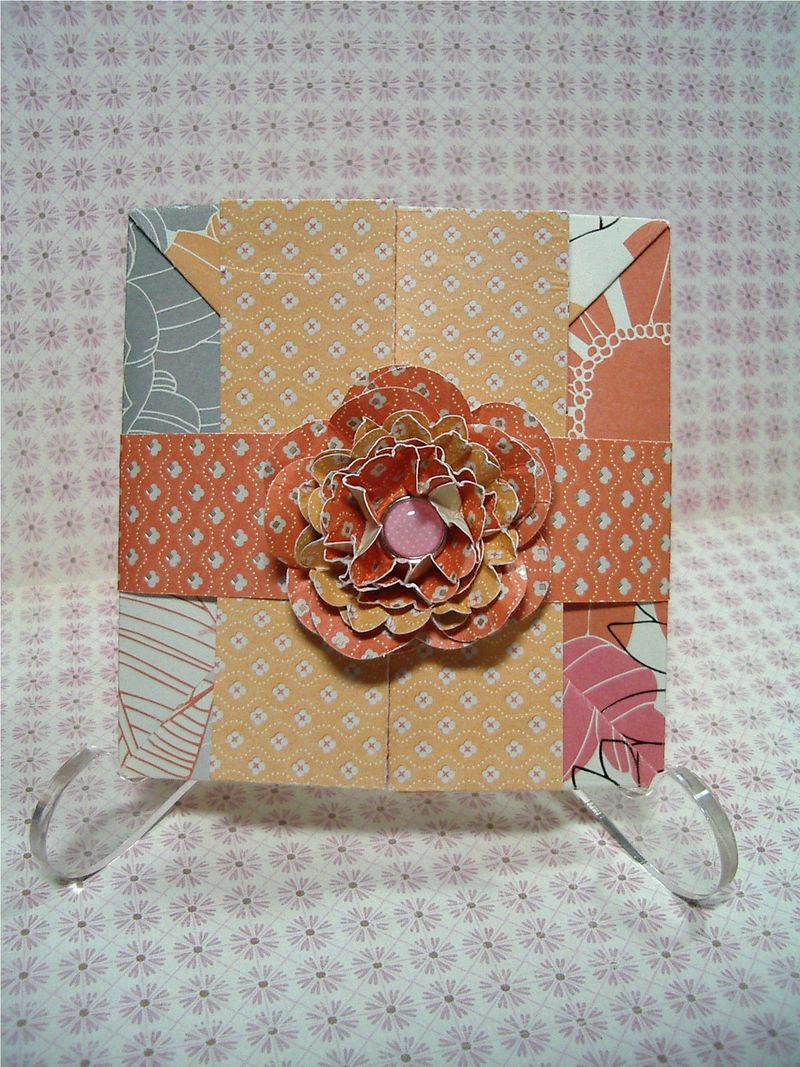 Pop Up Shadow Box card #1