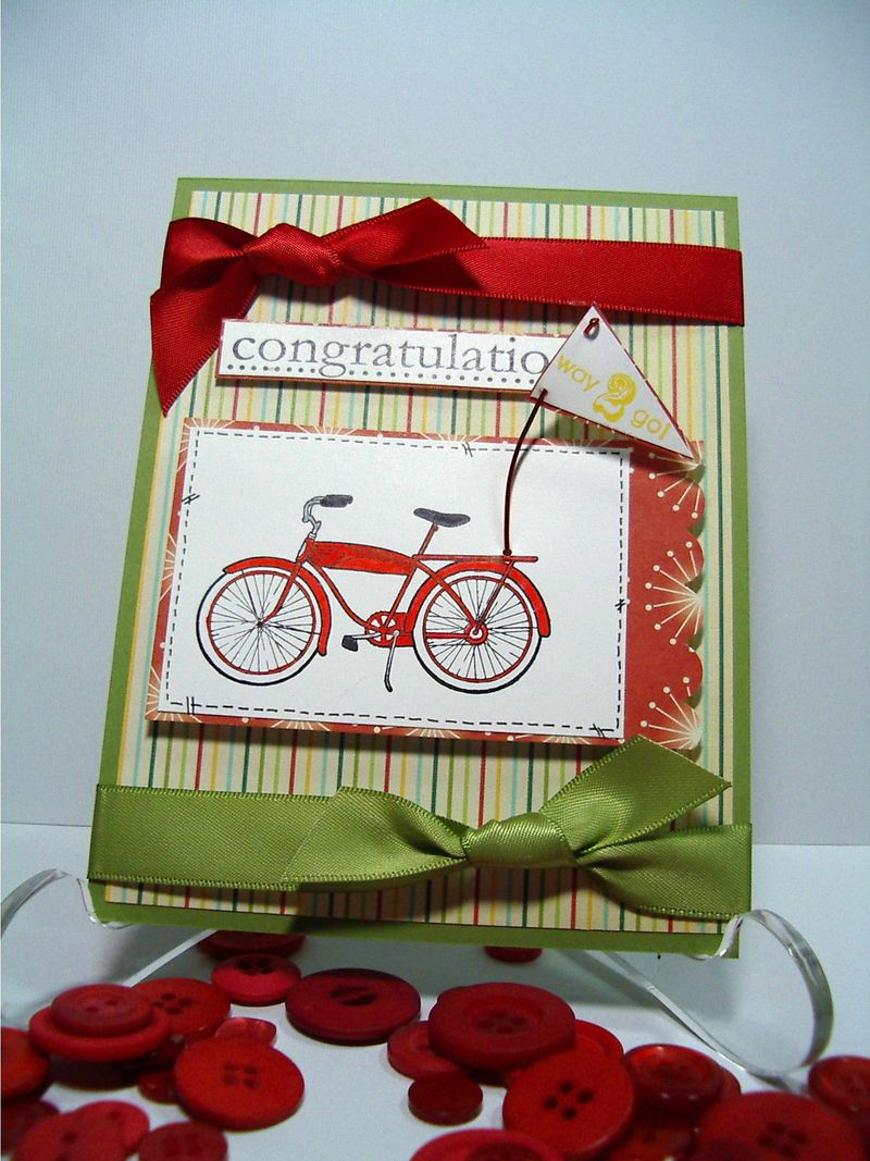 Congratulatiosn Bicycle card