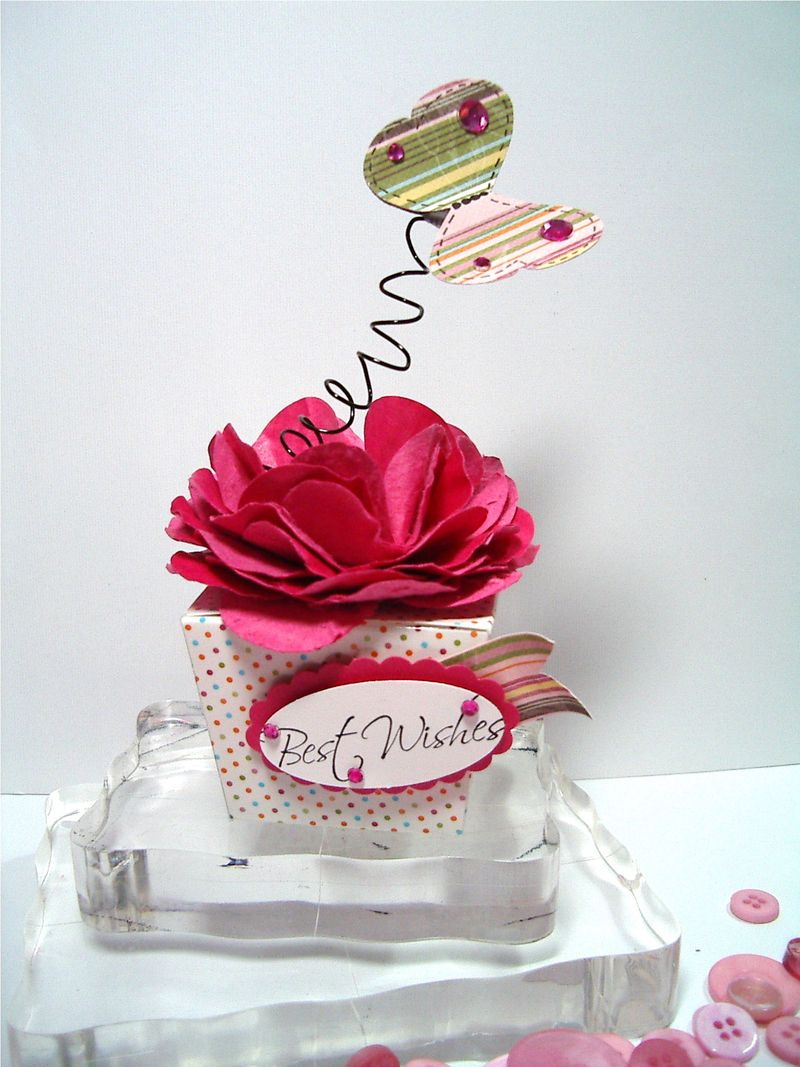 Party Favor box - Summmer catalog w-flower