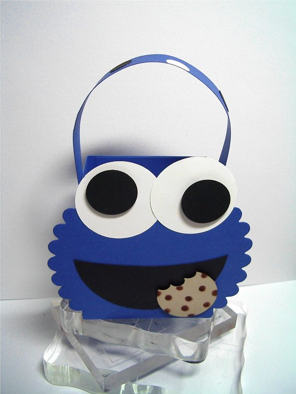 T Slide Card Elmo Amp Cookie Monster Treat Boxes Using Stampin Up Stamping And Paper