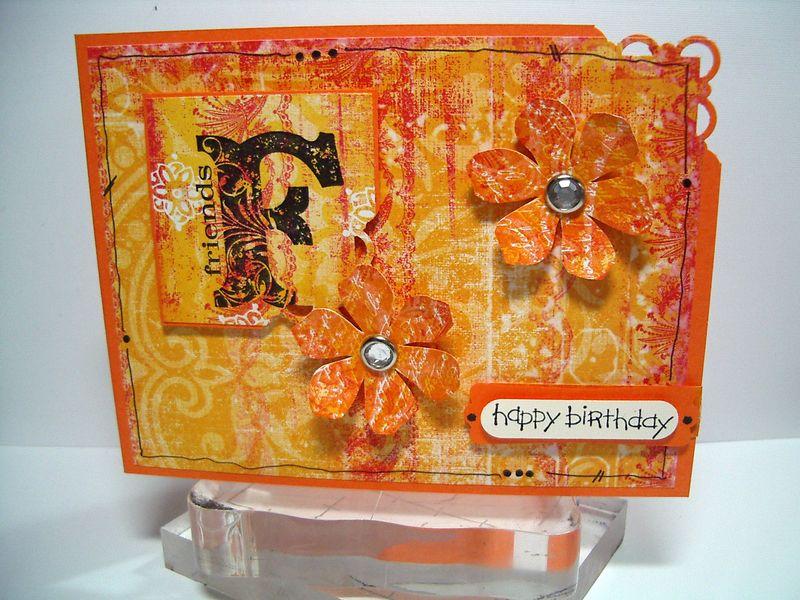 Friends H B-day orange card