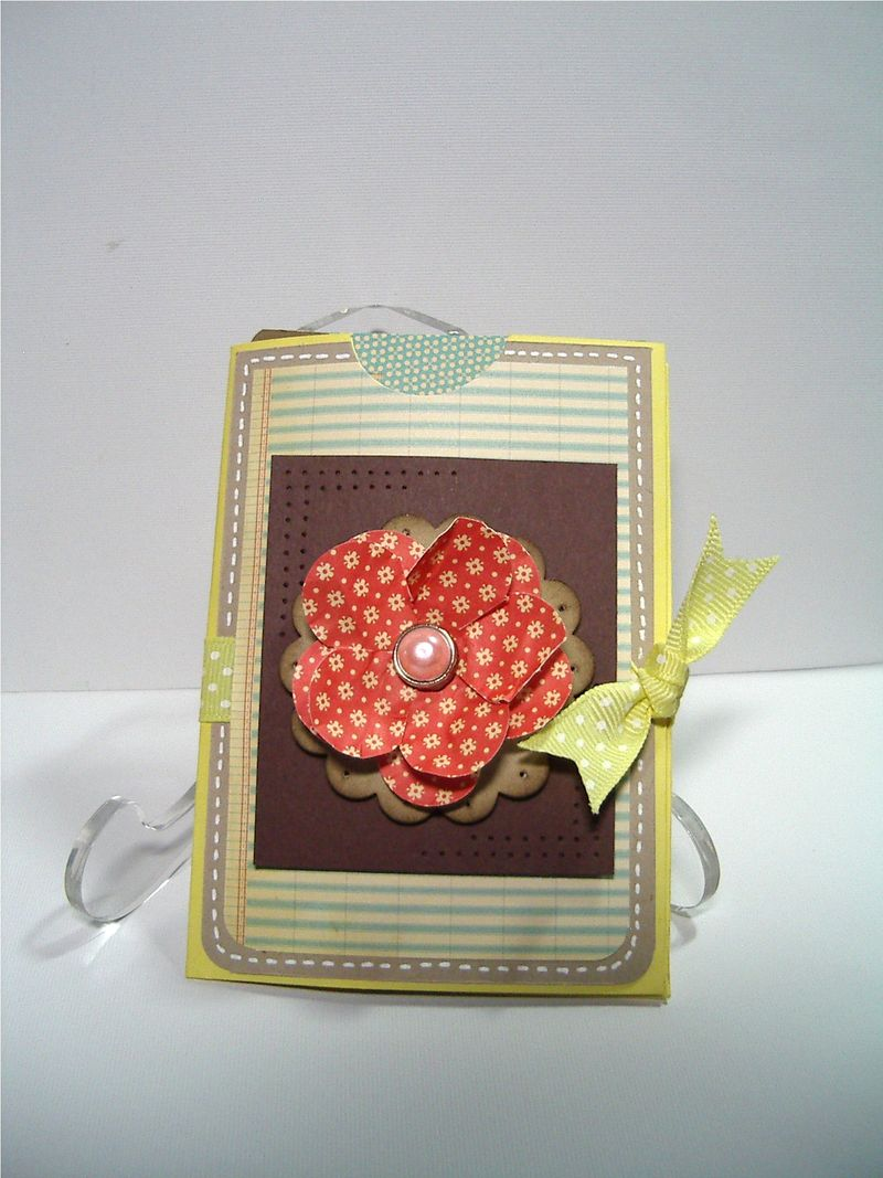 Fancy Flower envelope gift card #2