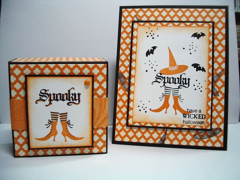 Spooky card & box