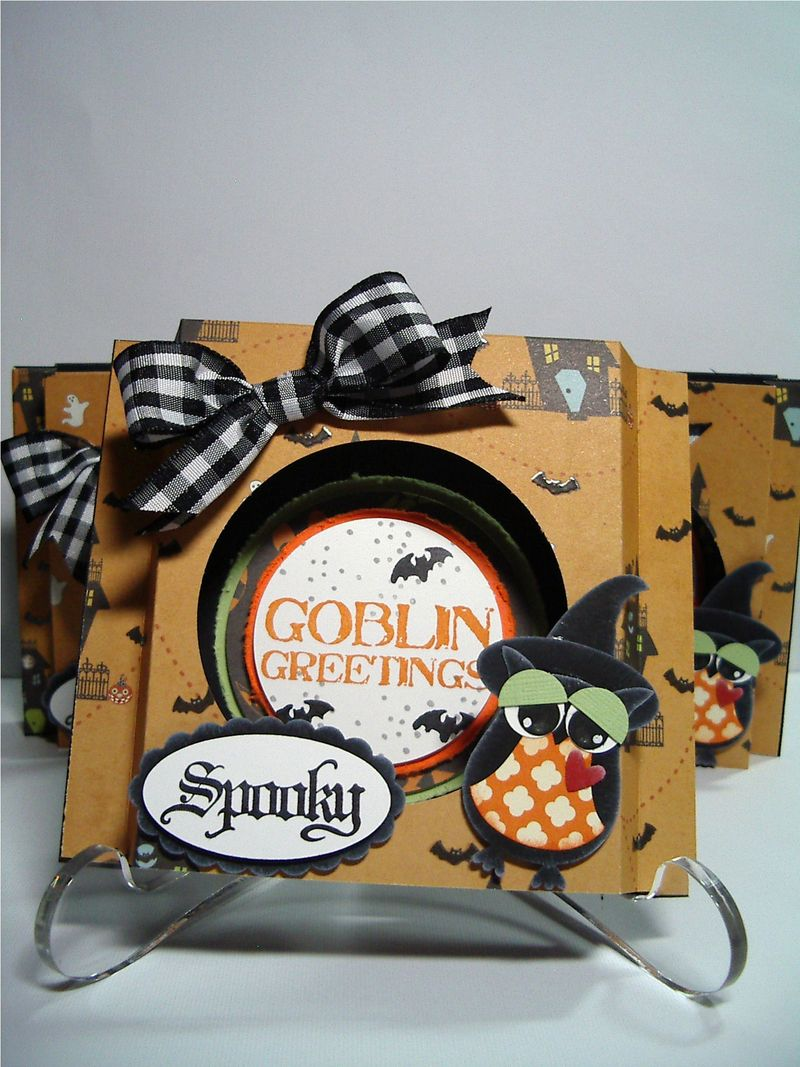 Gooblin Greetings shadow box card