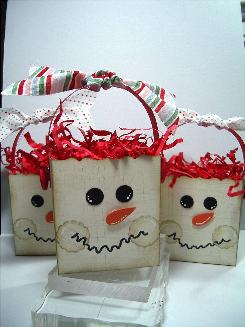 Grunge Snowmen boxes