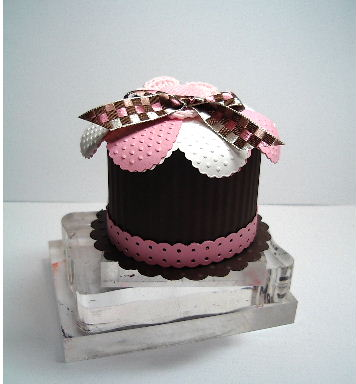 Cupcake Round Candy Treat Box