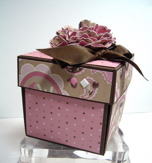 Explosion box - Pink and Brown