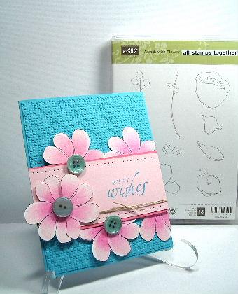 Stampin Sucess Awash Flower card
