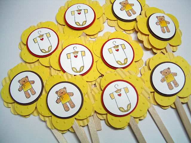 Cupcake Toppers-oneies & bears