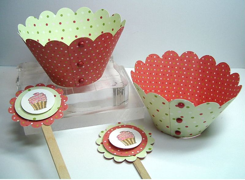 ETSY- Cupcake Holder & Topper set-2