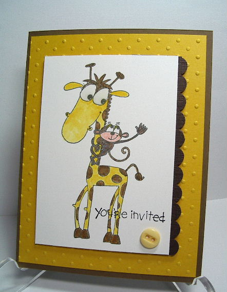 ETSY-Giraffe You're Invited card