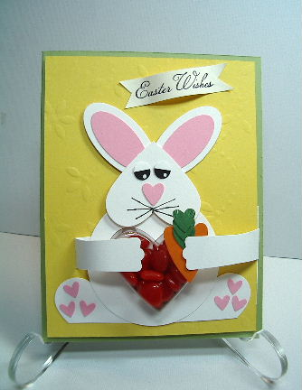 Bunny Heart Sweet Trea tCup card