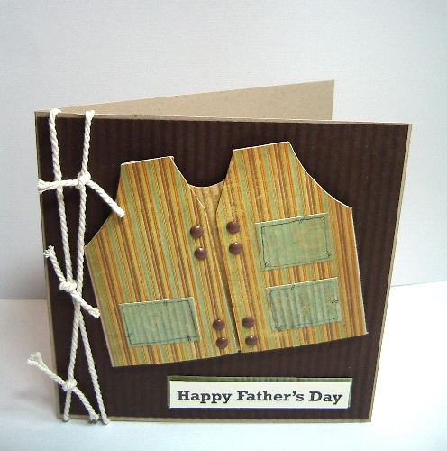 Fathers Days Fishing Jacket card