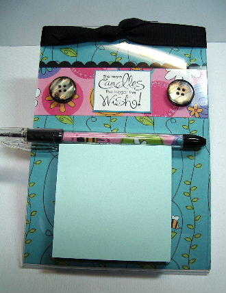 5 x 7 Post It Note pad and pen