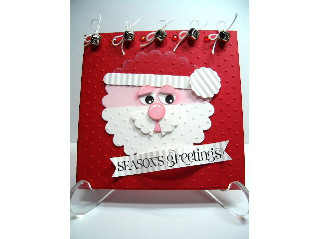 Jingle Bells-Santa face card