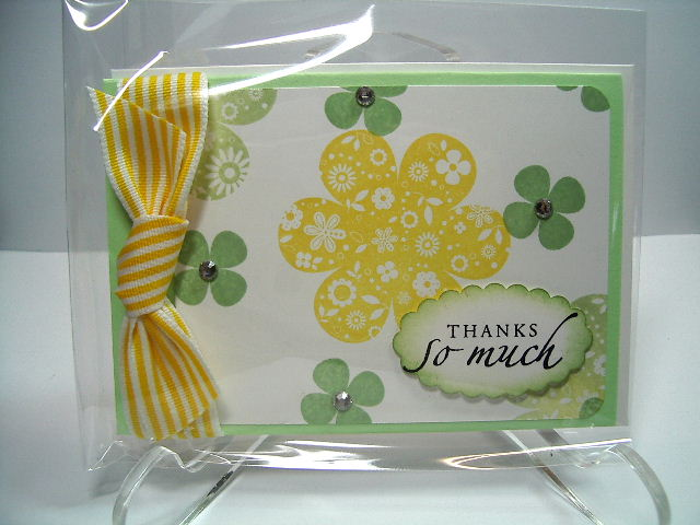 Printed Petals stamp set card