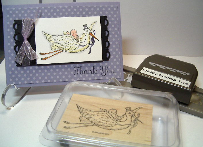 Thank You Baby Stork card