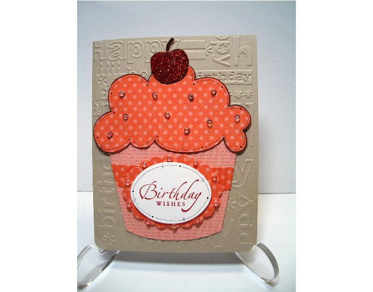 Calypso Coral Lge Cupcake card