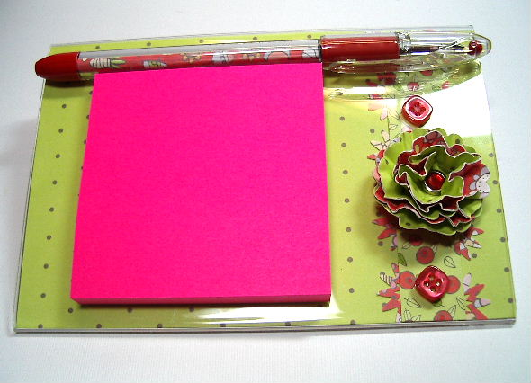 6 x 4 Post It Note pad and pen