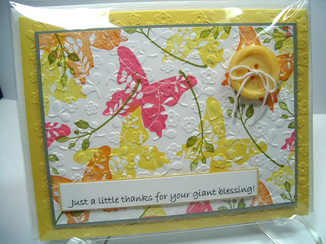 Great Friend stamp set card