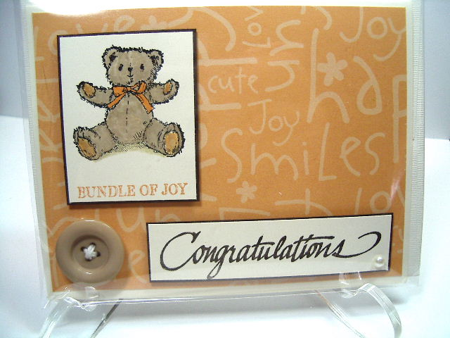 Teddy & Train stamp set card
