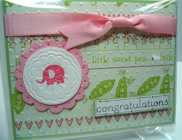 Baby Steps stamp set card