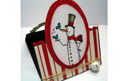 Dec 2011 workshop- Scallop Oval Snowman card #2