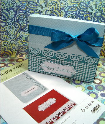 Simply Sent card box