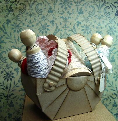 Sewing Basket-Crumb Cake cardstock